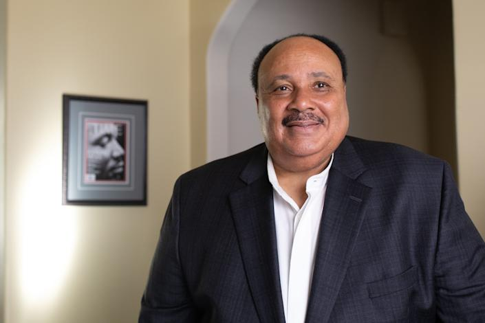 Martin Luther King III pictured at his Atlanta home on Jan. 9, 2020.