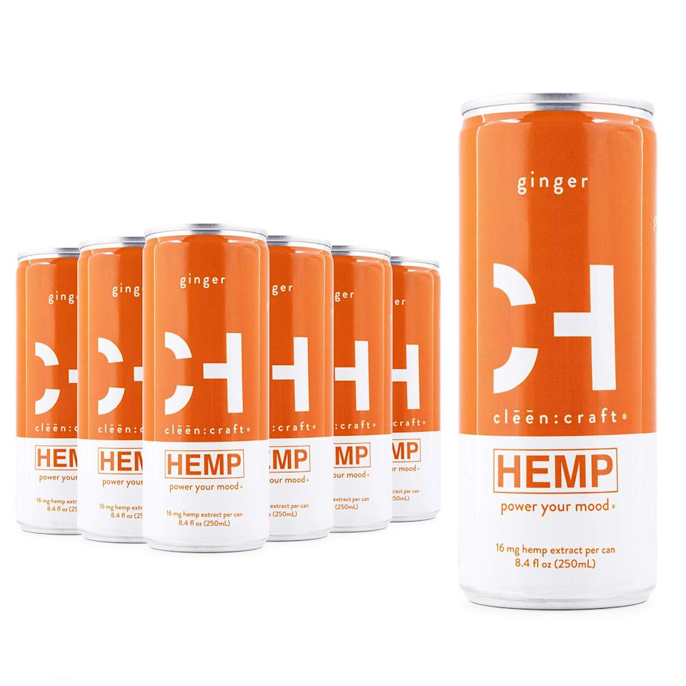 """<h2>Clēēn:craft Non-Alcoholic Premium Sparkling Hemp Drink</h2><br>Contained in a vibrant little can, this sparkling, bubbly drink features organic, plant-based components and a fresh scent. <br><br><strong>Cleen Craft</strong> clēēn:craft Non-Alcoholic Premium Sparkling Hemp Drink, $, available at <a href=""""https://amzn.to/3jEAmgZ"""" rel=""""nofollow noopener"""" target=""""_blank"""" data-ylk=""""slk:Amazon"""" class=""""link rapid-noclick-resp"""">Amazon</a>"""
