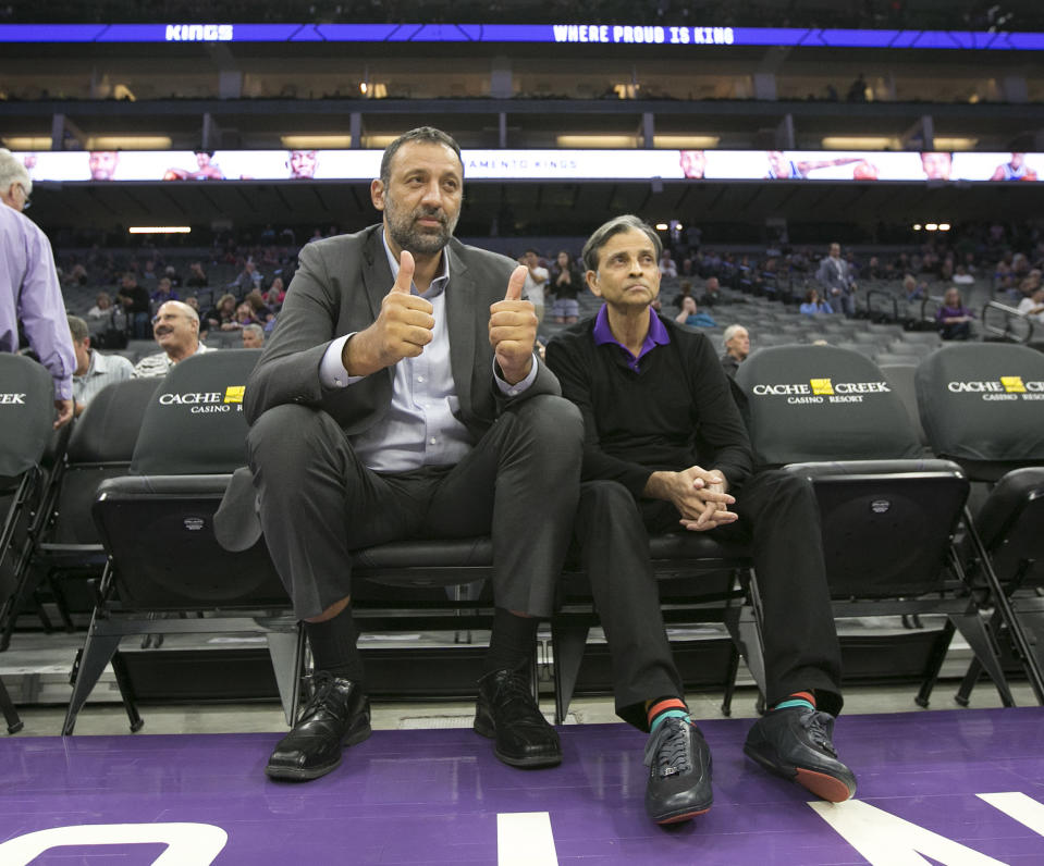Kings general manager Vlade Divac and owner Vivek Ranadivé hope that the post-DeMarcus Cousins era will eventually result in more success. (AP)
