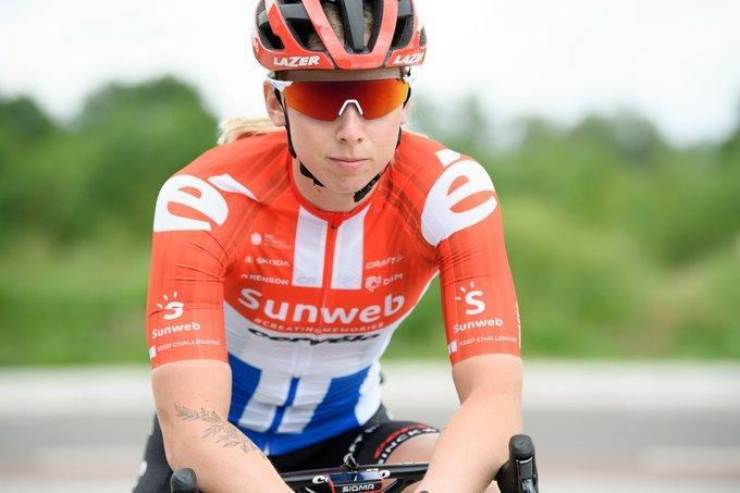 Lorena Wiebes in her new Team Sunweb colours