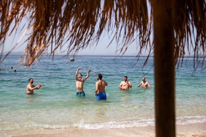FILE PHOTO: Beaches officially reopen to the public, in Athens
