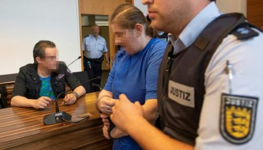 German couple who sold son to paedophiles jailed for 12 years
