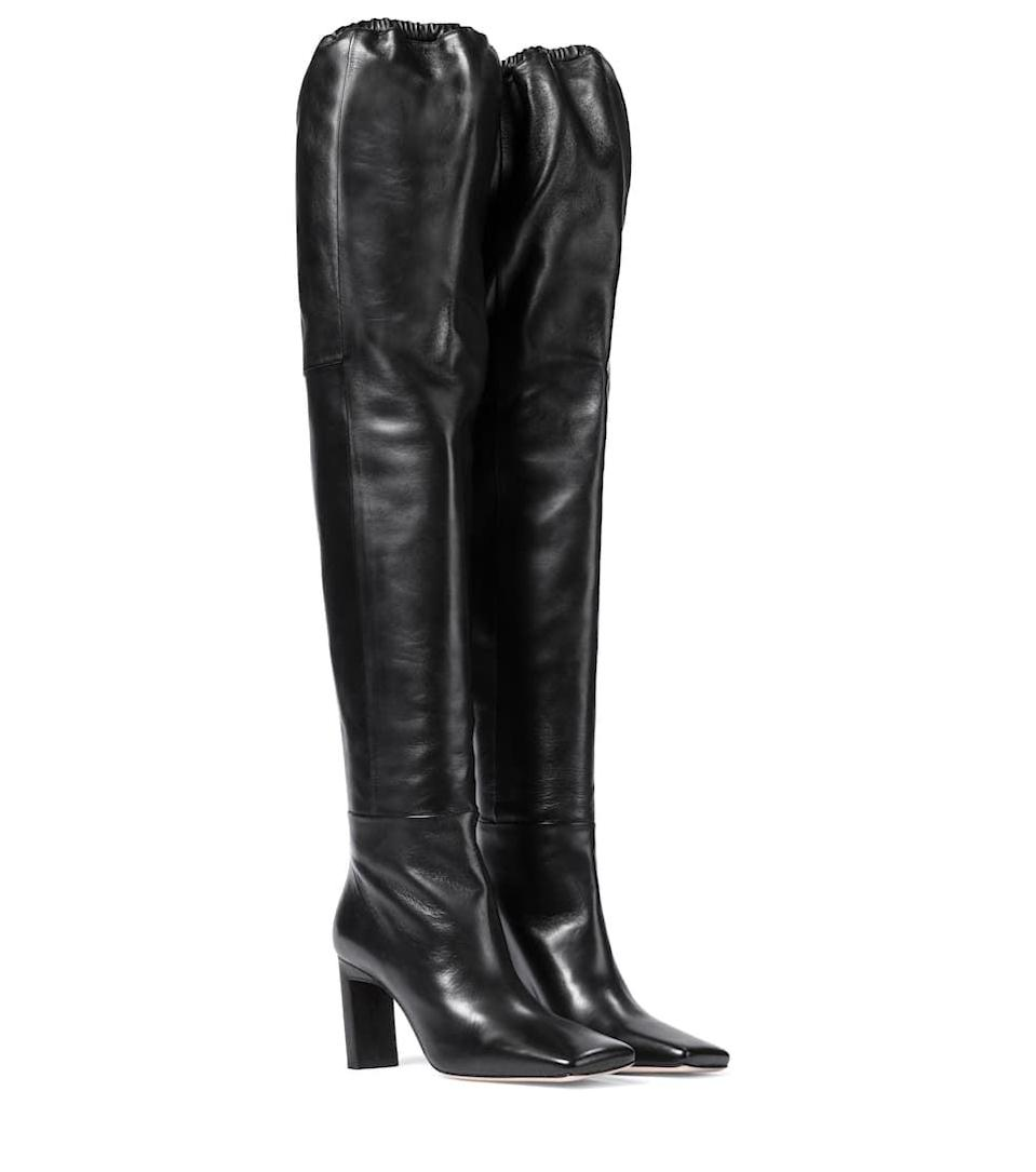 <p><span>Wandler Anne Leather Over-the-Knee Boots</span> ($1,120)</p>