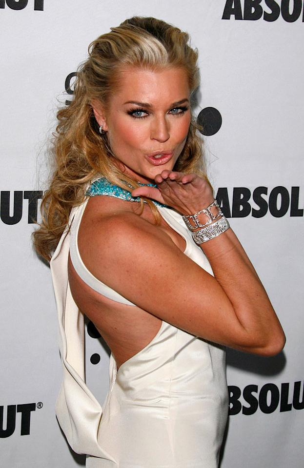 "Rebecca Romijn is anything but ""Ugly"" as she puckers up for the paparazzi. Jean Baptiste Lacroix/<a href=""http://www.wireimage.com"" target=""new"">WireImage.com</a> - April 14, 2007"