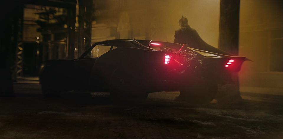 Matt Reeves shared a first look at the new Batmobile with Robert Pattinson in the Batsuit (Photo: Matt Reeves/Twitter)