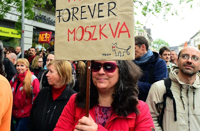 'Forever Moscow' read one ironic placard brandished by protestors in Budapest against the hardline policies of premier Viktor Orban