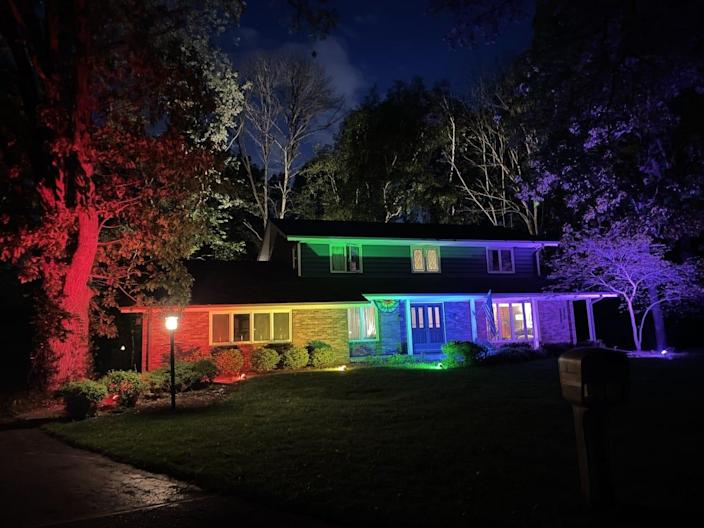A home in Racine, Wisconsin, became a viral sensation when the homeowner was told to take down a Pride flag, so he washed it in rainbow floodlights.