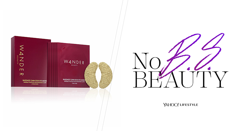 Wander Beauty Baggage Claim Gold Eye Masks have been creating a lot of buzz lately, so we decided to put them to the test. (Photo: Wander Beauty; Graphic: Quinn Lemmers for Yahoo Lifestyle)