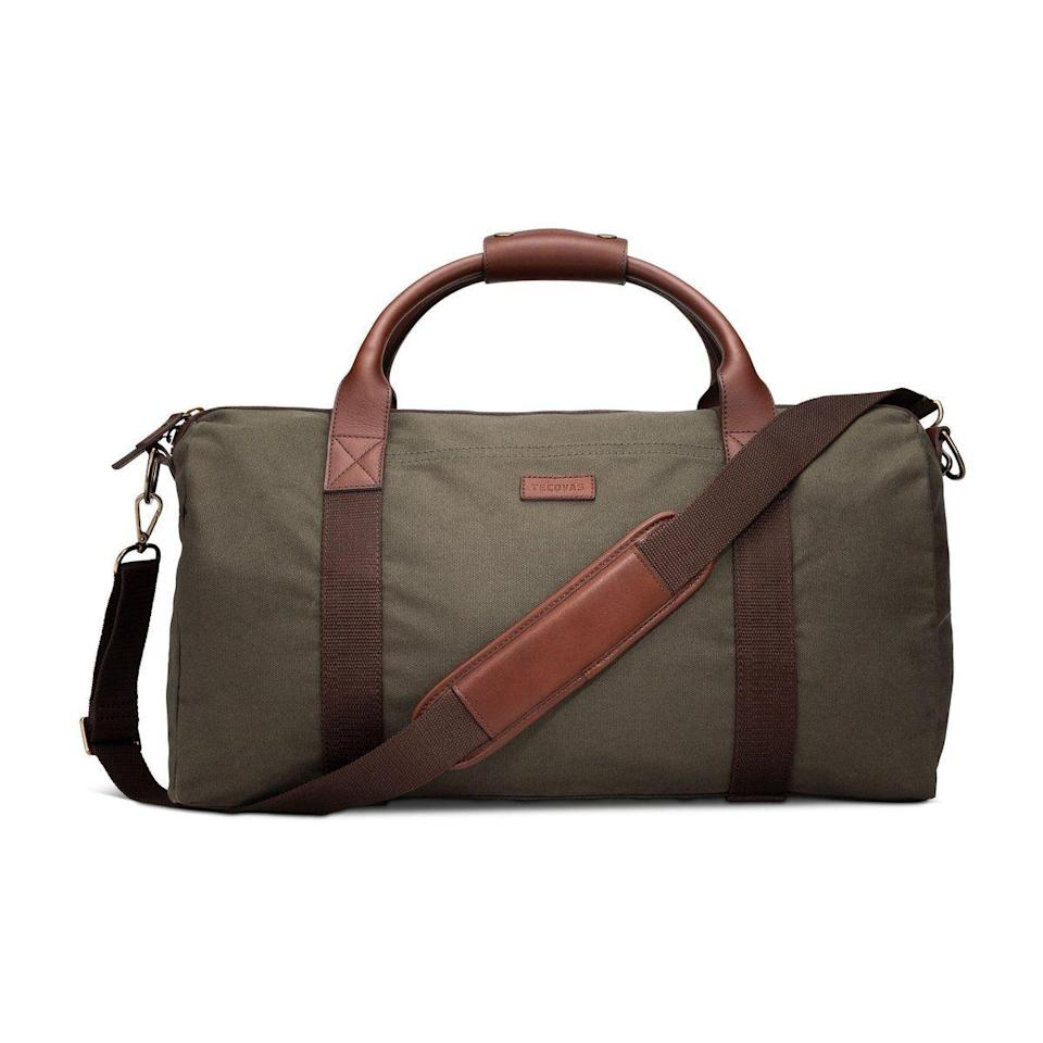 """<p><strong>Tecovas</strong></p><p>tecovas.com</p><p><strong>$245.00</strong></p><p><a href=""""https://www.tecovas.com/products/large-canvas-duffle?variant=31198500323437"""" rel=""""nofollow noopener"""" target=""""_blank"""" data-ylk=""""slk:Shop Now"""" class=""""link rapid-noclick-resp"""">Shop Now</a></p><p>He uses his smelly gym bag for <em>everything. </em>Gift him a nice duffel he can use for spring break, weekend trips, and more. </p>"""