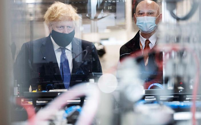 Boris Johnson visits the UK Battery Industrialisation Centre in Coventry. - David Rose