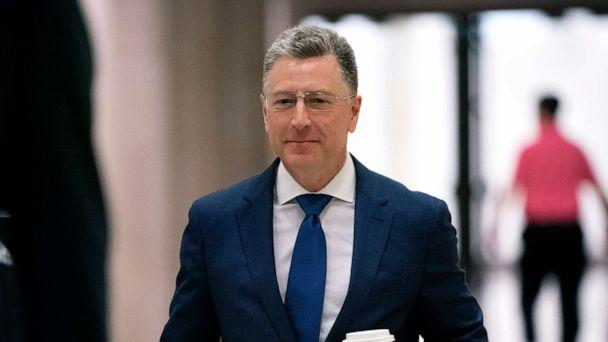 PHOTO: Kurt Volker, a former special envoy to Ukraine, arrives for a closed-door interview with House investigators, as House Democrats proceed with the impeachment inquiry of President Donald Trump, at the Capitol in Washington, Oct. 3, 2019. (J. Scott Applewhite/AP)