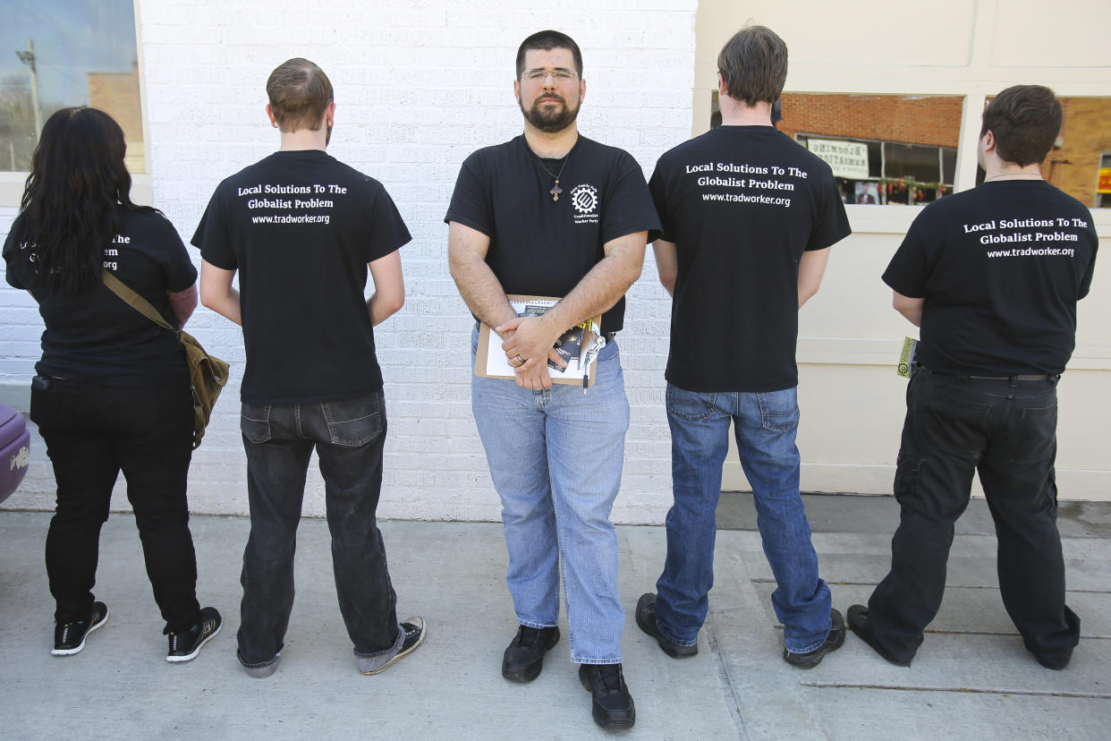 Matthew Heimbach, head of the Traditionalist Worker Party. (Photo: Michael M. Reaves for the Washington Post via Getty Images)