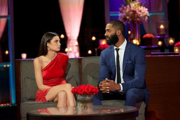 PHOTO: Rachael and Matt James in a scene from The Bachelor 'After the Final Rose,' March 15, 2021. (Craig Sjodin/ABC)