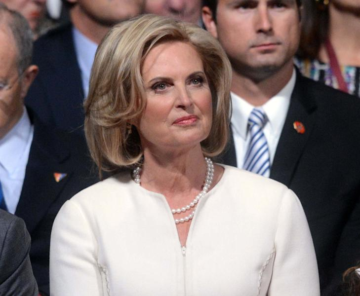 """FILE - This Oct. 3, 2012 photo shows Ann Romney waiting for the start of the first presidential debate at the University of Denver in Denver. ABC says Ann Romney will guest-host at the morning news program """"Good Morning America,"""" for its 8 a.m. (Eastern time) hour. Joining George Stephanopoulos at the anchor desk, Mrs. Romney will be filling in for co-anchor Robin Roberts, who is on extended medical leave. (AP Photo/Pool-Michael Reynolds, file)"""