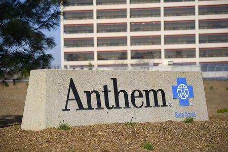FILE PHOTO: The office building of health insurer Anthem is seen in Los Angeles, California