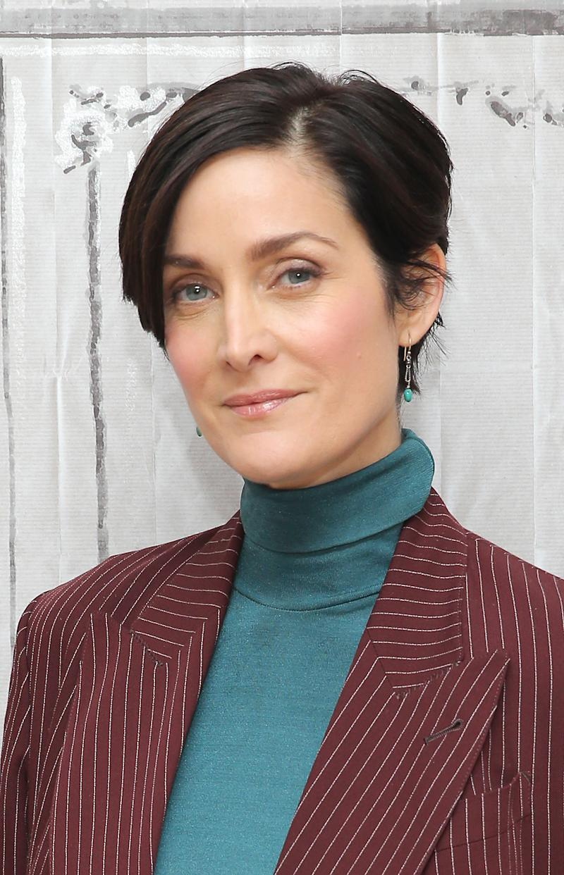 "NEW YORK, NY - NOVEMBER 18: Actress Carrie Ann Moss attends AOL BUILD Presents: Carrie Ann Moss, ""Jessica Jones"" at AOL Studios In New York on November 18, 2015 in New York City. (Photo by J. Countess/Getty Images)"