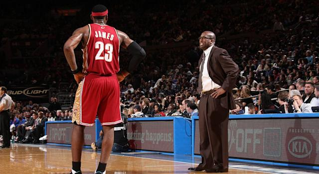 Mike Brown was named the 2009 Coach of the Year while in Cleveland, but it's what he didn't accomplish that he's remembered for. (Photo by Nathaniel S. Butler/NBAE via Getty Images)