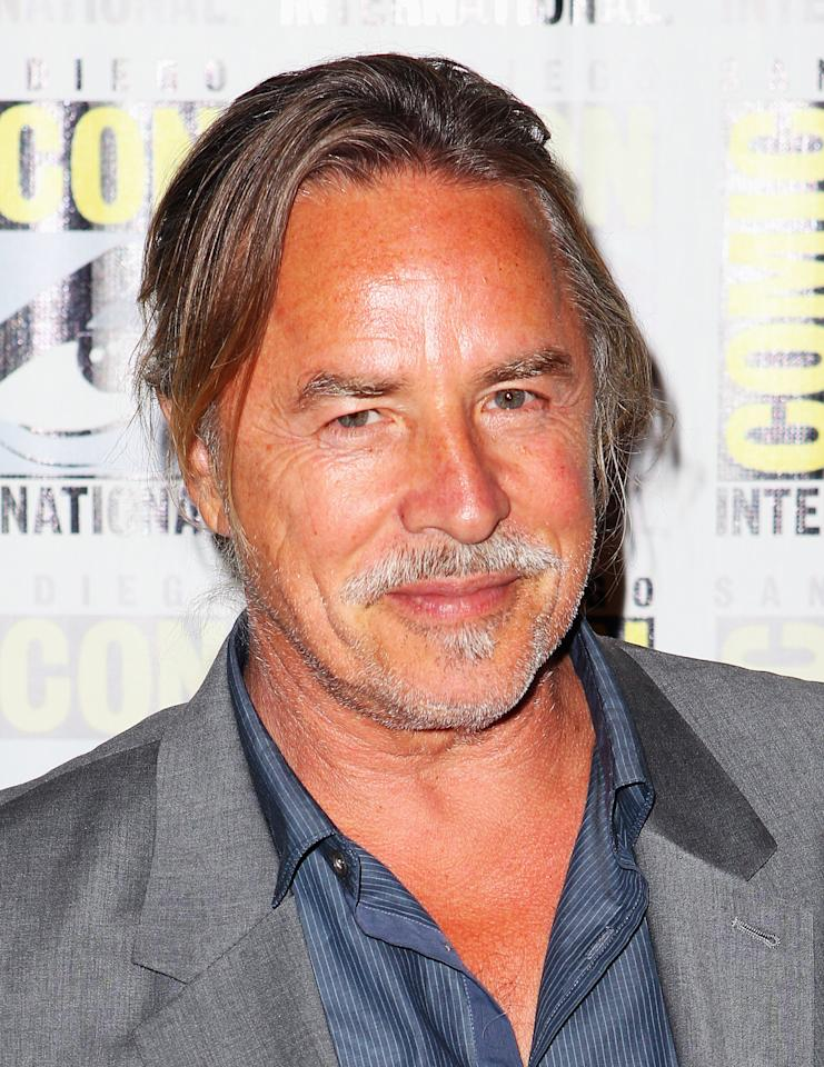 "SAN DIEGO, CA - JULY 14:  Actor Don Johnson attends ""Django Unchained"" at Comic-Con 2012 at Hilton San Diego Bayfront Hotel on July 14, 2012 in San Diego, California.  (Photo by Joe Scarnici/Getty Images for The Weinstein Company)"