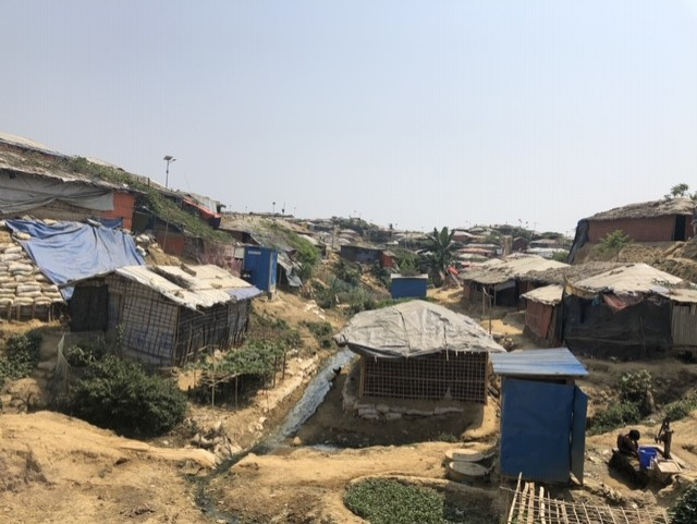 One of the many camps in Bangladesh.