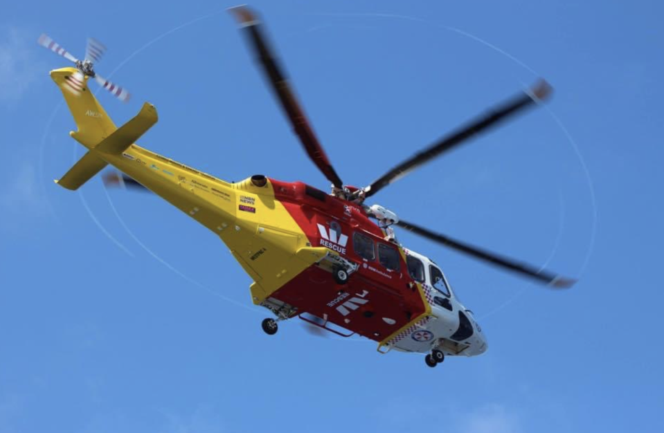 Pictured is the Westpac Rescue Helicopter.