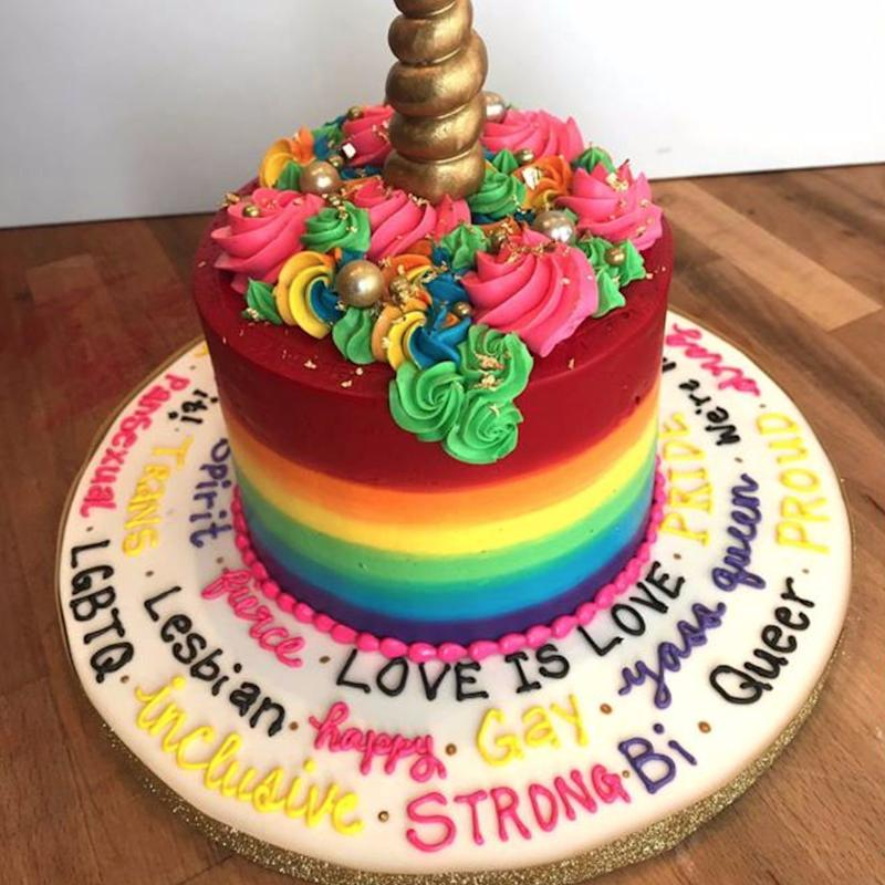 This Man Ordered the Gayest Wedding Cake Ever, and This Bakery DELIVERED