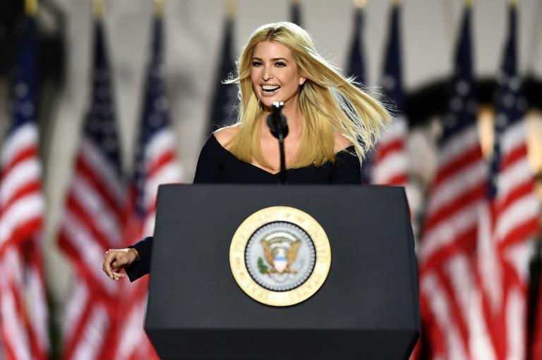 """Ivanka Trump, daughter and advisor to the US president, said America deserves her """"warrior"""" father in the White House for four more years"""