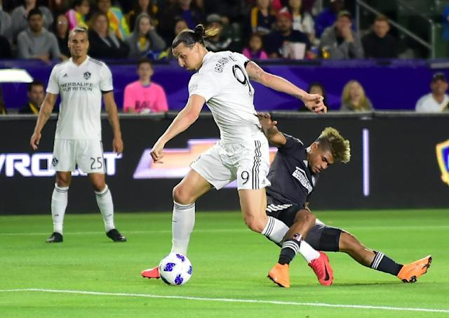 Zlatan Ibrahimovic and Josef Martinez will team up as MLS All-Stars against Atletico Madrid in the league's mid-season exhibition in July (AFP Photo/FREDERIC J. BROWN)