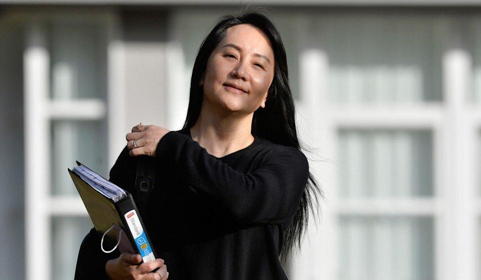 Huawei Technologies chief financial officer Meng Wanzhou leaves her home to attend a court hearing on Monday in Vancouver, British Columbia. Photo: Reuters