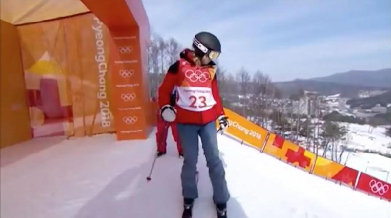 Elizabeth Swaney meanders through trickless freestyle ski run after qualifying through loophole