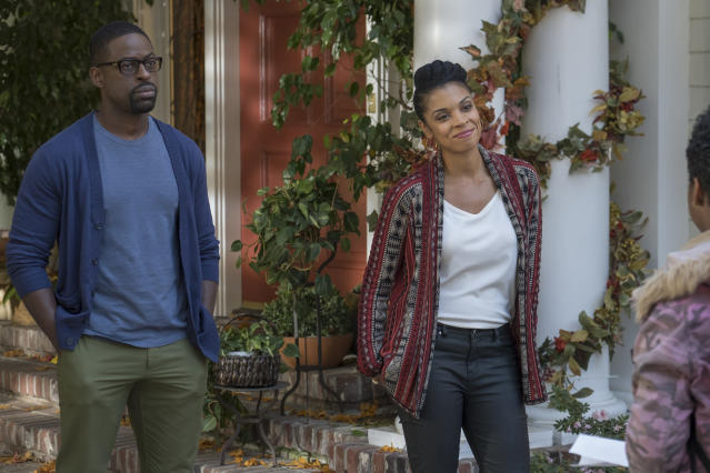 <p>Sterling K. Brown as Randall and Susan Kelechi Watson as Beth in NBC's <i>This Is Us</i>.<br> (Photo: Ron Batzdorff/NBC) </p>