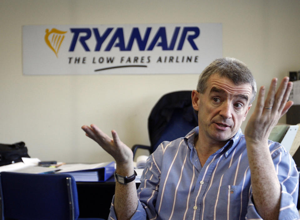 Ryanair chief Michael O'Leary. The airline is being investigated over failing to give refunds. Photo: AP Photo/Peter Morrison