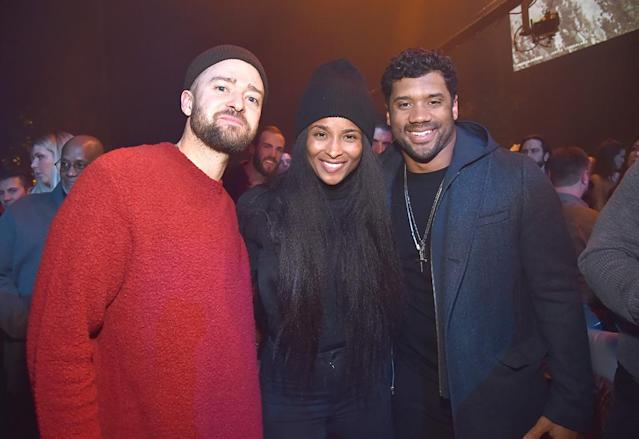 <p>The Super Bowl LII halftime performer met up with the NFL player and his wife at a release and listening party for his new album, <em>Man of the Woods, </em>on Thursday night at Prince's Paisley Park studio in Chanhassen, Minn. After over 500 guests heard J.T.'s new masterpiece, they were treated to a live set by the Revolution, Prince's former band. (Photo: Kevin Mazur/Getty Images for American Express) </p>