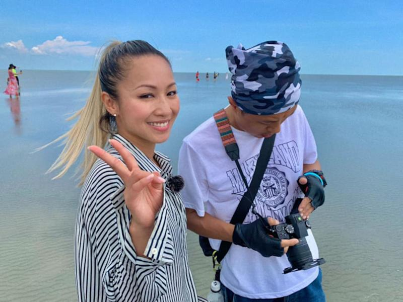 """Stephanie Cheng was in Malaysia to film the travel programme,""""Beautivels""""."""