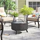 """<p><strong>Freeport Park</strong></p><p>wayfair.com</p><p><strong>$159.00</strong></p><p><a href=""""https://go.redirectingat.com?id=74968X1596630&url=https%3A%2F%2Fwww.wayfair.com%2Foutdoor%2Fpdp%2Ffreeport-park-sedgwick-steel-fire-pit-w002613640.html&sref=https%3A%2F%2Fwww.housebeautiful.com%2Fshopping%2Fhome-accessories%2Fg32129002%2Fbest-fire-pit%2F"""" rel=""""nofollow noopener"""" target=""""_blank"""" data-ylk=""""slk:BUY NOW"""" class=""""link rapid-noclick-resp"""">BUY NOW</a></p><p>One of the most affordable options on the list, this wood-burning fire pit also has a fun little style twist: It features star and moon cut-outs on the side of the steel frame that glow when the fire is lit. </p>"""