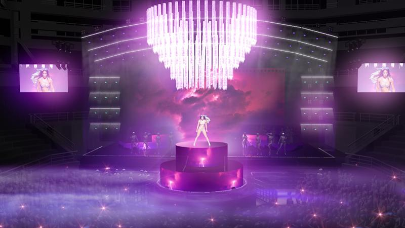 An early rendering of the It's My Party stage.