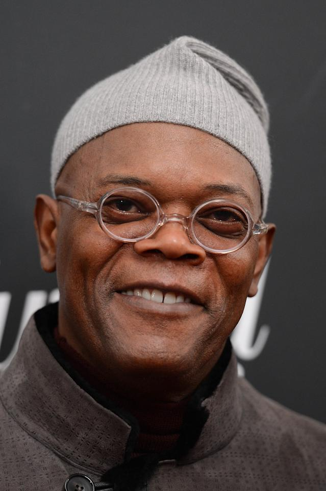 "NEW YORK, NY - DECEMBER 11:  Samuel L. Jackson attends a screening of ""Django Unchained"" hosted by The Weinstein Company with The Hollywood Reporter, Samsung Galaxy and The Cinema Society at Ziegfeld Theater on December 11, 2012 in New York City.  (Photo by Stephen Lovekin/Getty Images)"