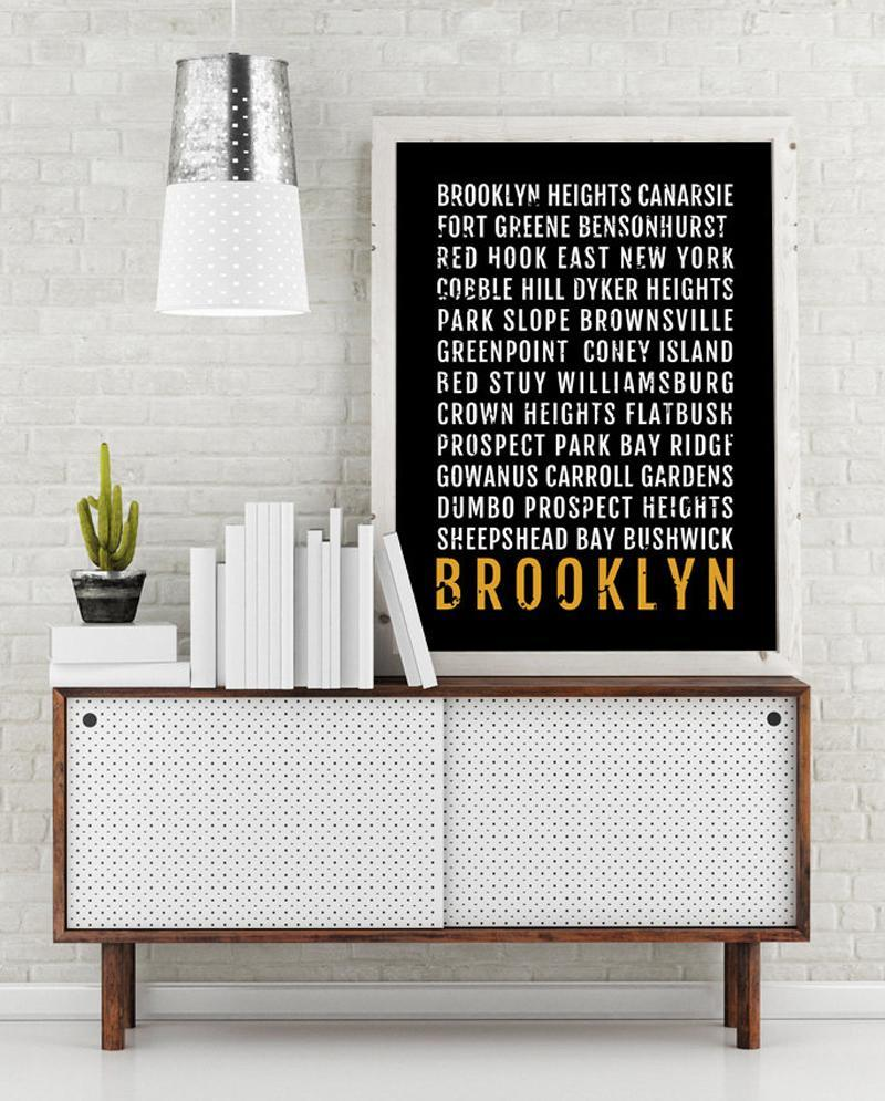 """<p><strong>To buy:</strong> <a href=""""http://www.awin1.com/cread.php?awinmid=6220&awinaffid=272513&clickref=SYNinstyleRCbrooklyndecor&p=https%3A%2F%2Fwww.etsy.com%2Flisting%2F265356128%2Fbrooklyn-print-neighborhoods-subway"""" rel=""""nofollow noopener"""" target=""""_blank"""" data-ylk=""""slk:etsy.com"""" class=""""link rapid-noclick-resp"""">etsy.com</a>, starting at $25</p>"""