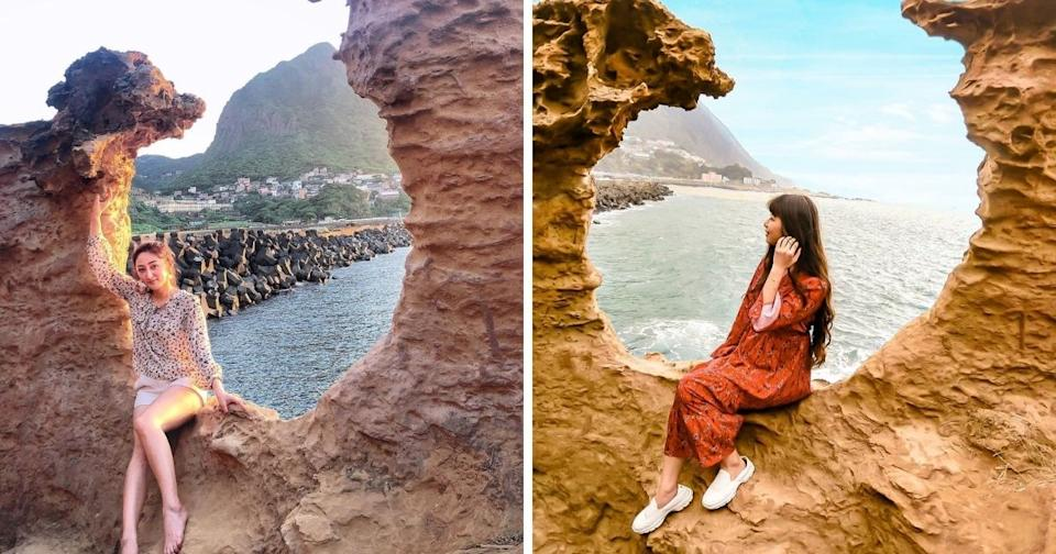 水湳洞陰陽海 |Shuei Nan Dong Yin Yang Sea (Photos courtesy of @helloevaeva (left) and @gigiji394su3 (right)/Instagram)