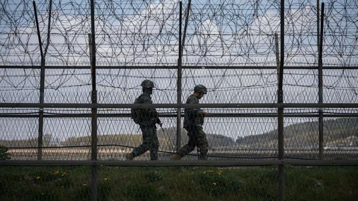 The Korean border is one of the world's most heavily militarised areas