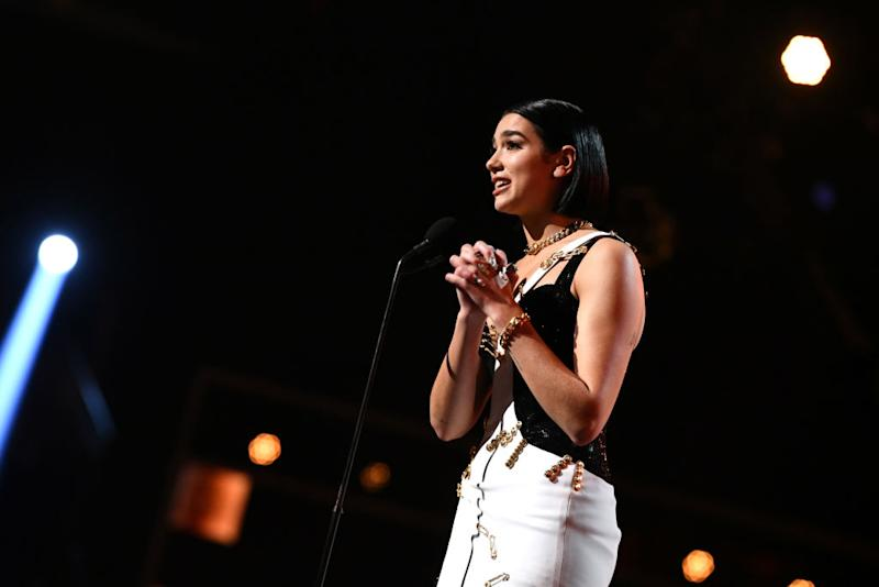 Dua Lipa Worked a Clapback About Female Artists Needing to 'Step Up' Into Her Grammys Acceptance Speech