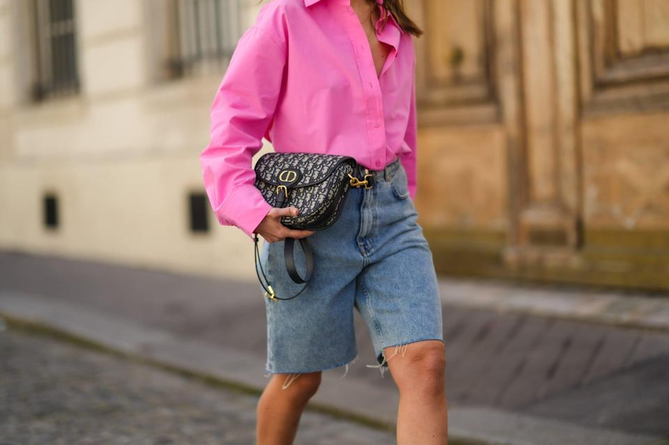 <p><strong>CM:</strong> Denim shorts are the perfect staple for summer-friendly outfits that can be worn day to night with the switch of a shoe. If you don't have a pair, I highly recommend buying! This season, I will opt for a high waisted style, or longer length vintage cut-offs</p>
