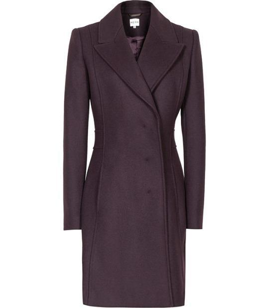 """<p>Reiss Sesto Long Tailored Coat in Berry, $360, <a href=""""https://www.reiss.com/us/p/long-tailored-coat-womens-sesto-in-berry/?category_id=1124#"""" rel=""""nofollow noopener"""" target=""""_blank"""" data-ylk=""""slk:Reiss"""" class=""""link rapid-noclick-resp"""">Reiss</a>.<br></p>"""