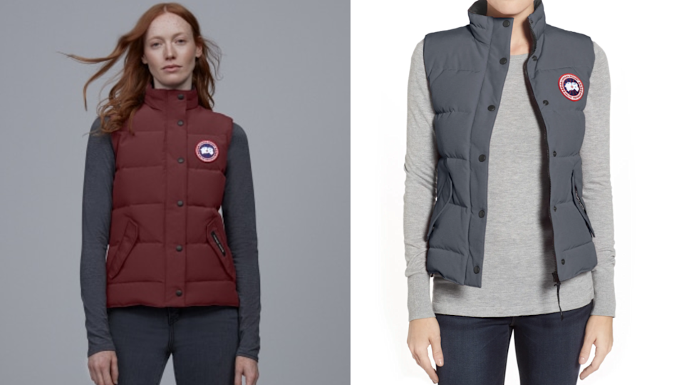 The recognizable Canada Goose logo is emblazoned on the chest of this vest.
