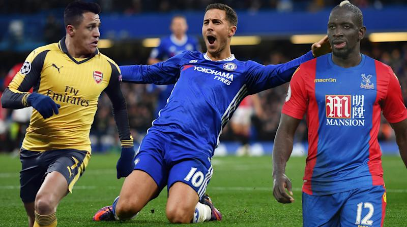 Alexis Sanchez, Eden Hazard and Mamadou Sakhou are all on the wish lists