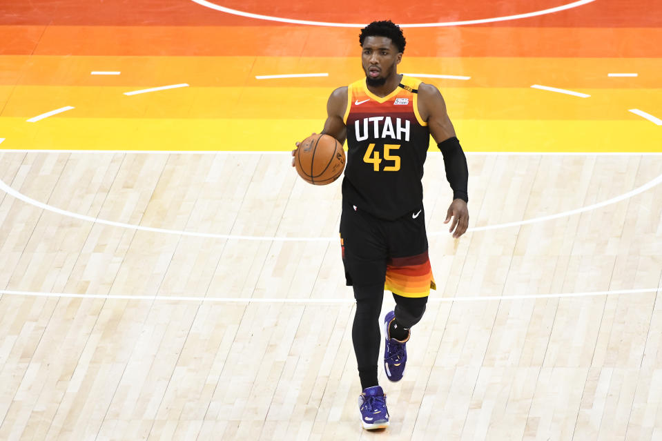 Utah Jazz guard Donovan Mitchell is raising his ceiling in real time. (Alex Goodlett/Getty Images)