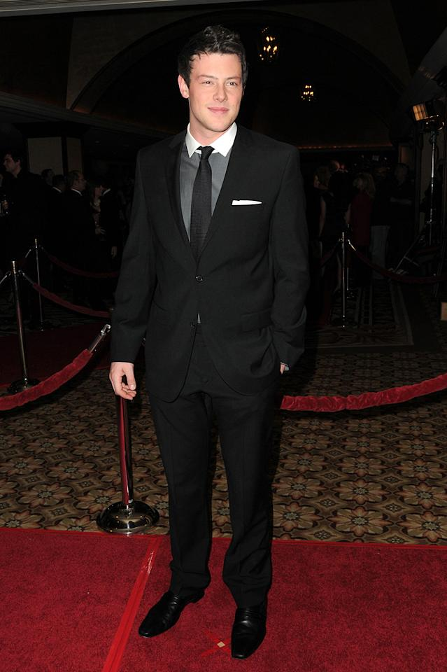 """<a href=""""http://movies.yahoo.com/movie/contributor/1809674864"""">Cory Monteith</a> at the 62nd Annual Directors Guild of America Awards in Century City, California on January 30, 2010."""