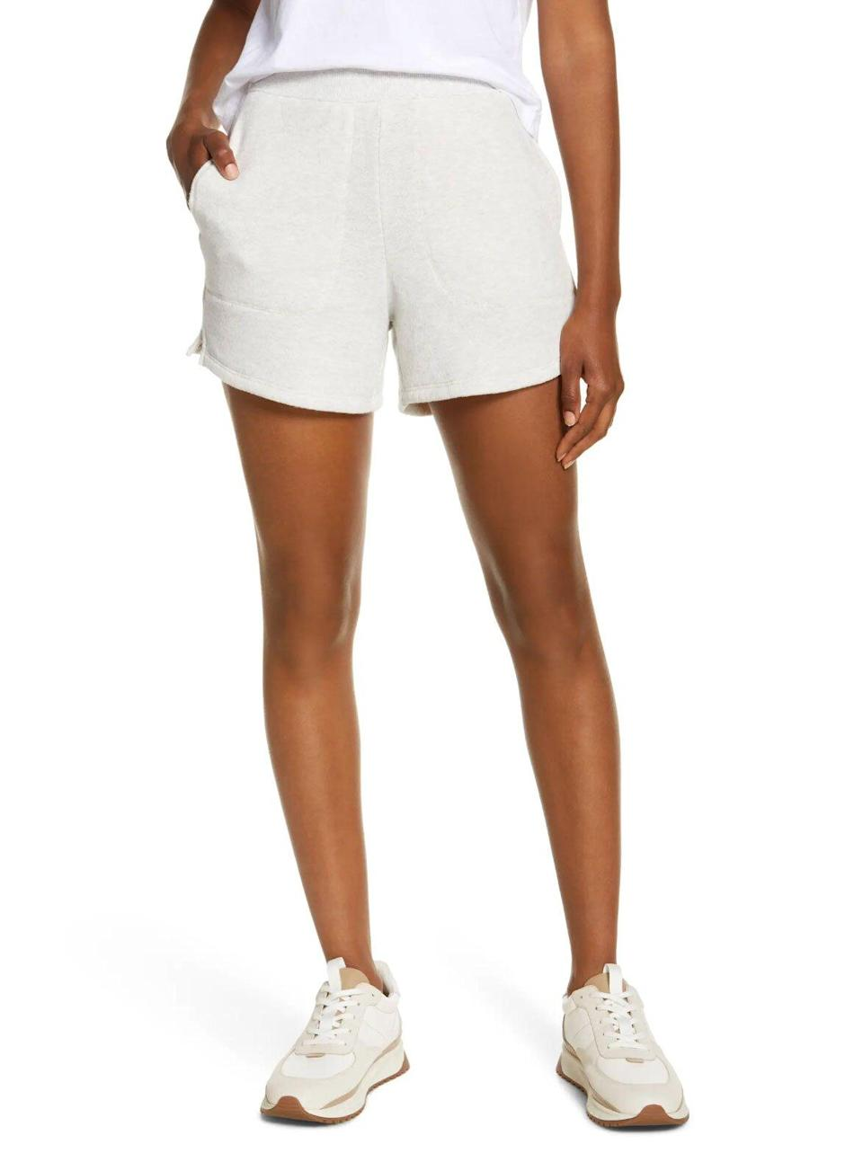 Madewell Airterry Stitched Pocket Sweat Shorts