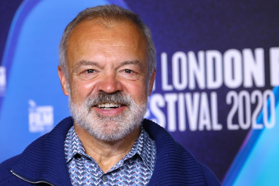 """LONDON, ENGLAND - OCTOBER 11: Graham Norton attends the """"Soul"""" premiere during the 64th BFI London Film Festival at BFI Southbank on October 11, 2020 in London, England. (Photo by Tim P. Whitby/Getty Images for BFI)"""