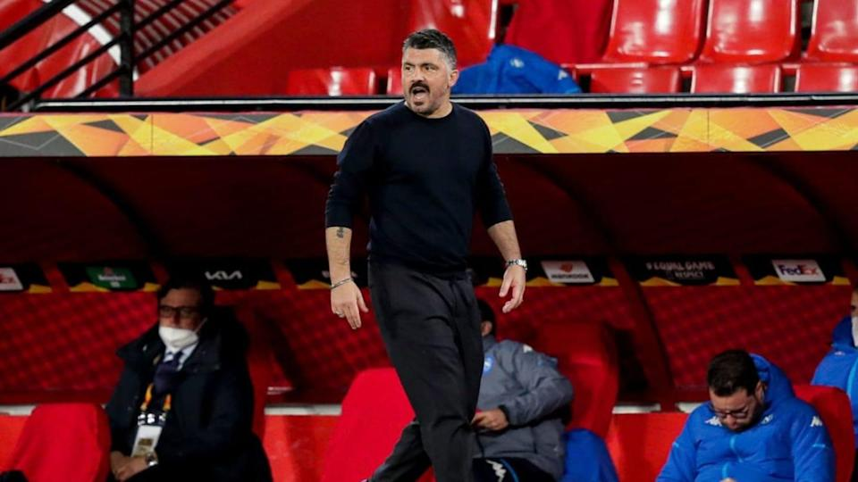 Mister Gattuso nell'andata a Granada | Soccrates Images/Getty Images