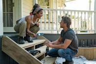 """<p>Netflix's feel-good romance <strong>Falling Inn Love</strong> has everything you need in a cheesy rom-com: a punny title, a gorgeous setting, and a scenario built to make its leads fall in (sorry, inn) love against all odds. Singer and actress Christina Milian stars as Gabriela, a city girl who spontaneously enters a contest to """"win an inn"""" - aka renovating the dilapidated Bellbird Valley Farm - after a breakup. Lo and behold, she's chosen! Which means she has to travel from her home in San Francisco to New Zealand, where the Bellbird is located. Luckily, with the help of a handsome contractor (Adam Demos), Gabriela fixes up not only the building but also her heart. </p> <p>Watch <strong><a href=""""http://www.netflix.com/title/80999781"""" class=""""link rapid-noclick-resp"""" rel=""""nofollow noopener"""" target=""""_blank"""" data-ylk=""""slk:Falling Inn Love"""">Falling Inn Love</a></strong> on Netflix now.</p>"""